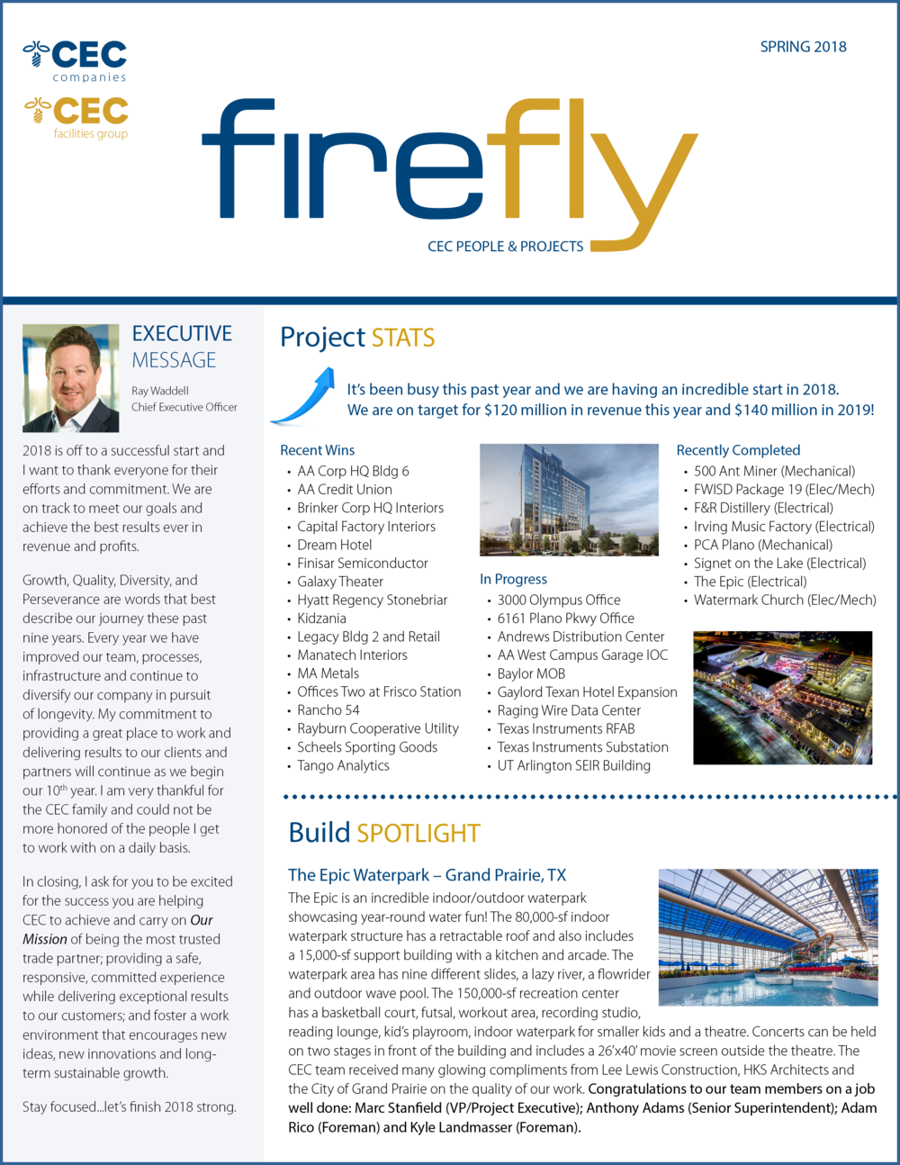 Firefly Newsletter Spring 2018