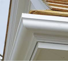 Fiberglass - A newer concept for gutters. They were made to replace the traditional wood gutters which rots and takes much maintenance. The Fiberglass gutters are very light (half the weight of wood gutters). It does not rot, never needs to be painted, never leaks, never needs to be oiled, extremely durable and UV resistant. Companies that install this type of gutter offer a lifetime guarantee on these gutters.
