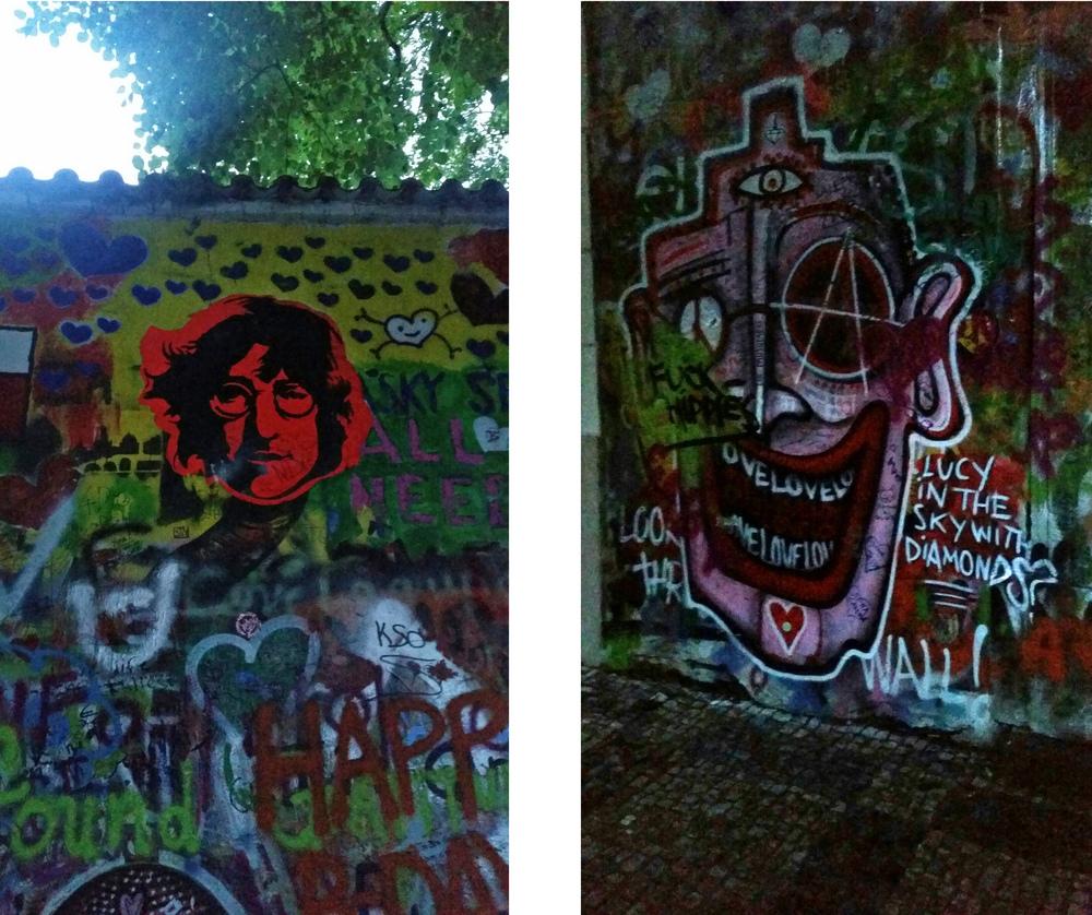 The John Lennon wall in Budapest