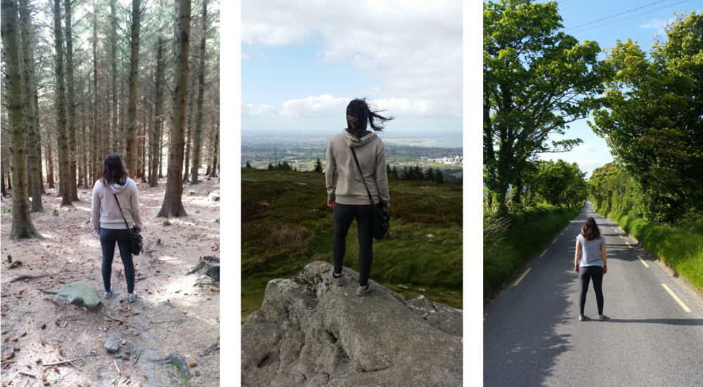 All pictures taken on the same day, the same walk, the same few hours, up to the mountain and back down.