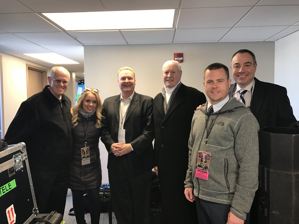 Our terrific ESPN crew for the Liberty Bowl including Carter Myers (stats), Alex Corrdry (sidelines), Dave Shore (producer), Al Groh (analyst), Johnny Alga (Spotter)