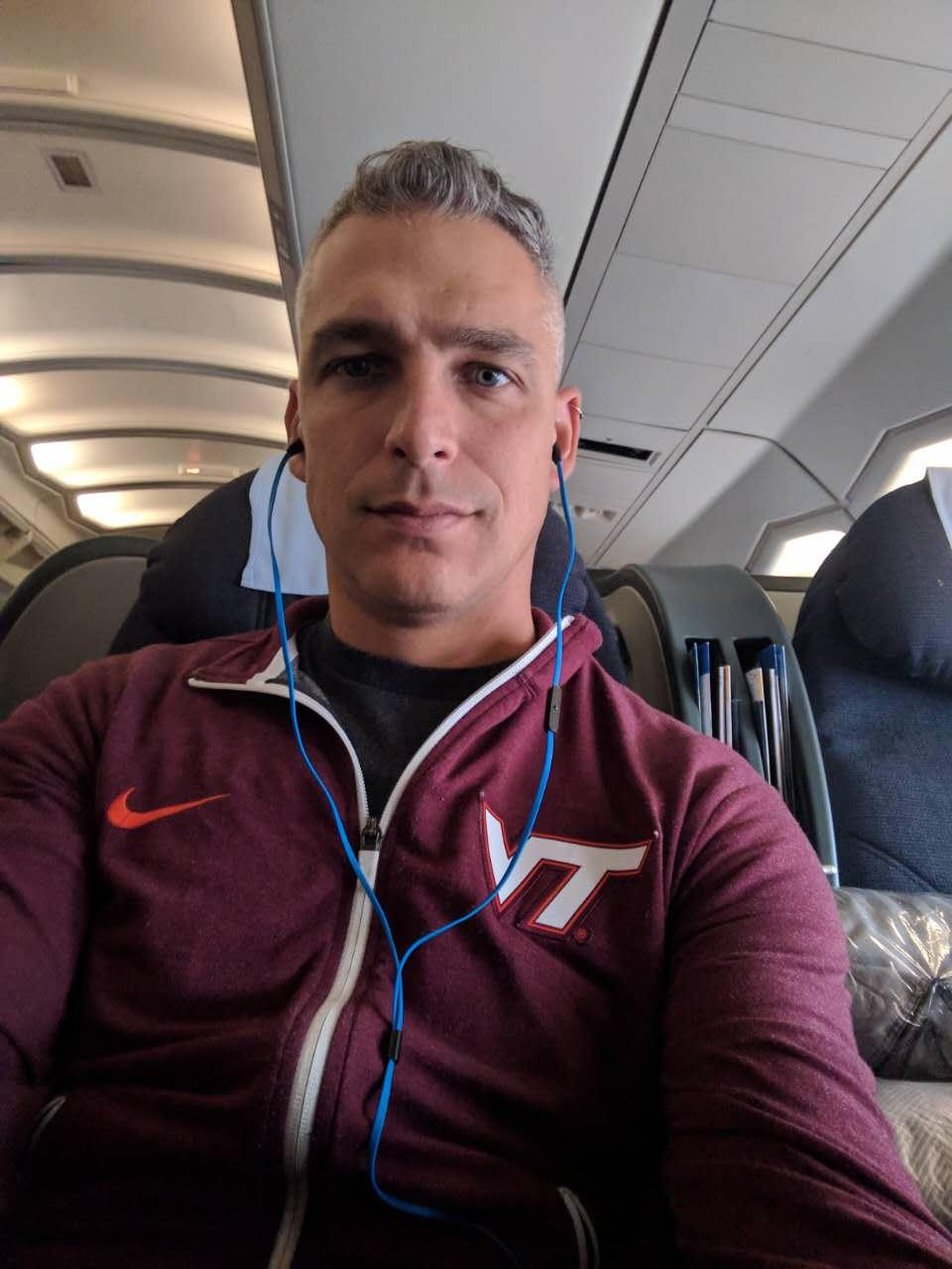 Virginia Tech season ticket holder Richie Weldon travelled over 16,000 miles round-trip to see the Clemson-Virginia Tech football game.