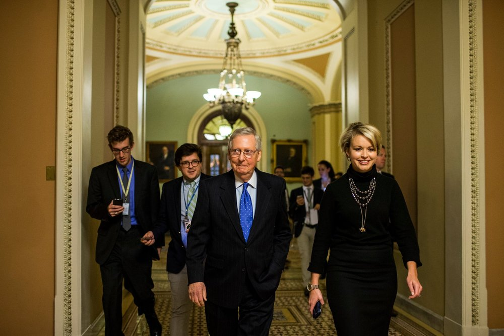 Senate Majority Leader Mitch McConnell on Thursday. PHOTO: Zach Gibson