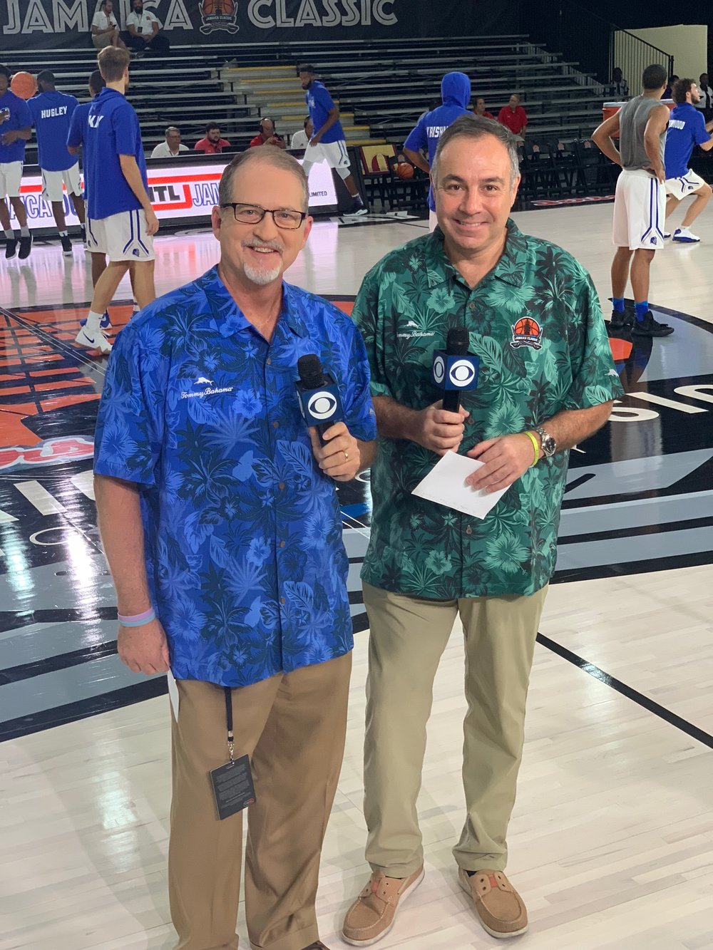 Along with Mark Wise at the 2018 Jamaica Classic in Montego Bay for CBS Sports Network.