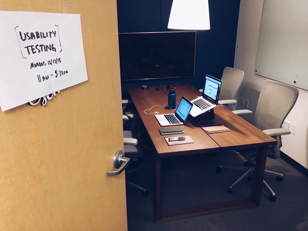 My usability testing 'lab' in one of the conference rooms at Microsoft.