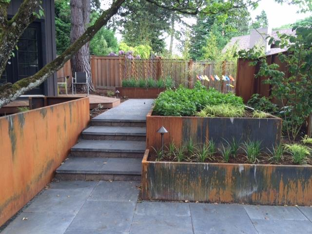 Corten Stacked Planters