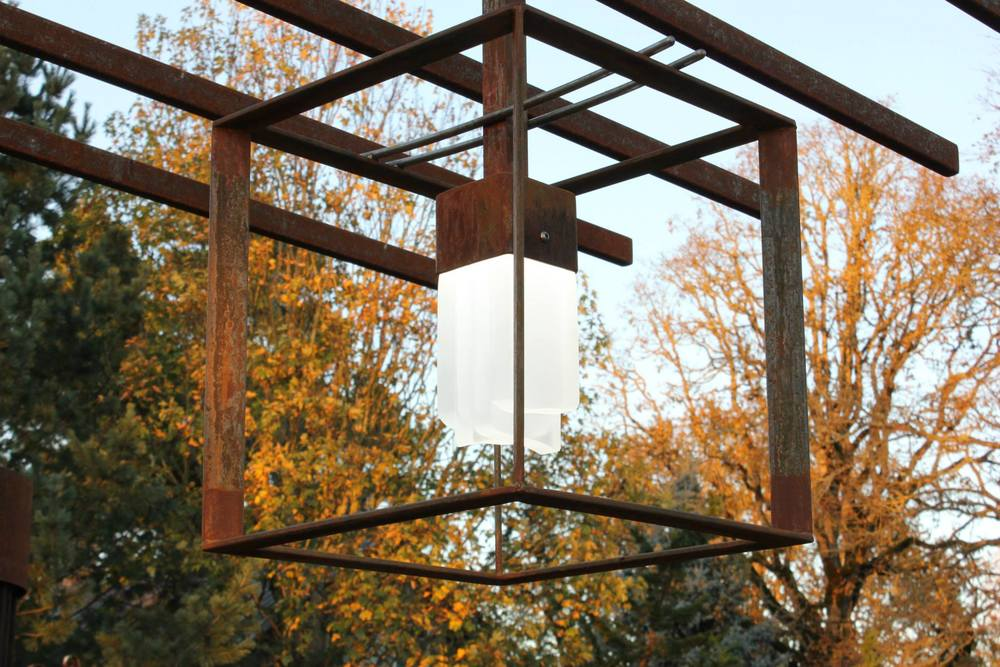 Custom Corten Hanging Light