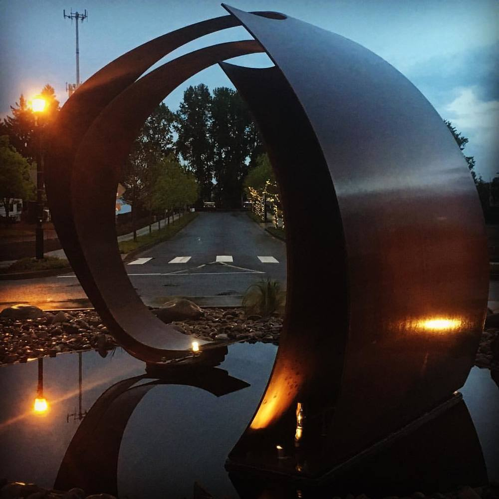 Corten Steel Stylistic Wave Sculpture