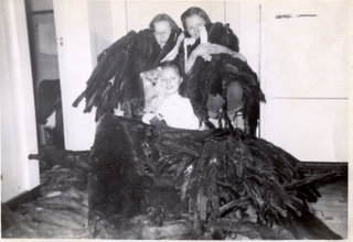 Dorothy and her sisters covered in mink