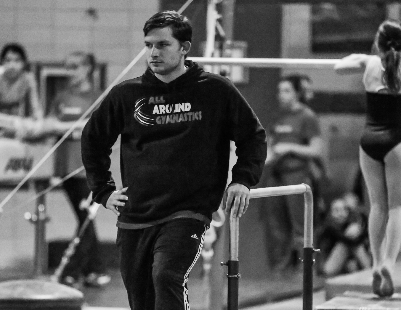 Coach Mike - Head team coach and gym owner. USAG certified professional, safety certificate. Attained Instructor, Junior Olympic Development Coach, Junior Olympic Team Coach, and National Team Coach Certificates through USA Gymnastics. Certified CrossFit trainer.