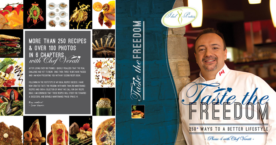 Three years after losing over 100 pounds and surviving a heart attack, world-renowned Chef Verati cooks up a storm in his second book, Taste of Freedom, presenting more than 250 delicious recipes for a better lifestyle.  In this vibrant cookbook featuring over 100 mouthwatering images, Chef Verati shows the way to healthy eating and keeping the pounds off without stress.  With hundreds of appetizing recipes to stimulate the taste buds, Taste of Freedom promises satisfying cooking experiences for families looking for every day meal inspiration or for people on Phase 4 of the Ideal Protein Weight Loss Method.  From low fat to low carbohydrates meal ideas, Chef Verati's easy-to-follow recipes emphasize the natural flavours and textures found in ingredients with tasty and appealing results.  Chef Verati has more than 20 years of experience in the culinary arts. His passion for healthy eating has inspired millions of people to get back in the kitchen and take pleasure in cooking fresh, nutritious food. In addition to working in a number of famous restaurants around the world, Chef Verati managed his own five-star restaurant and taught in some of the world's most prestigious cooking schools.  Bon appétit!      TO ORDER PLEASE EMAIL US AT MHCWELLNESS@ICLOUD.COM OR CALL US 646.696.1692