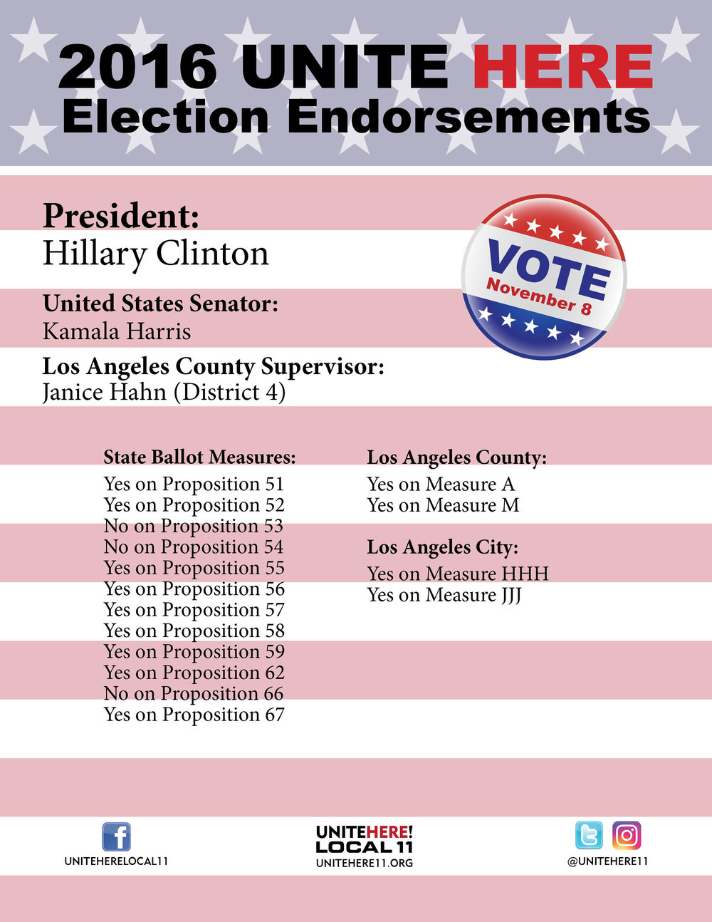 LA County Endorsements 2016