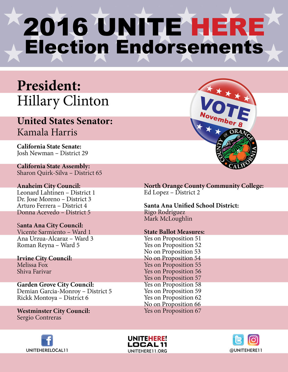 Orange County Endorsements