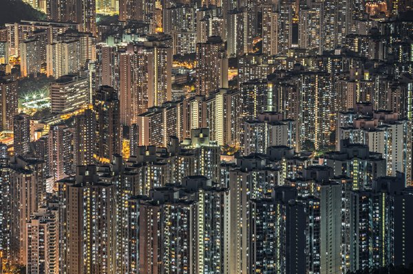 Title: Digital Panel of Hong Kong, Photo credit: Julia Wimmerlin
