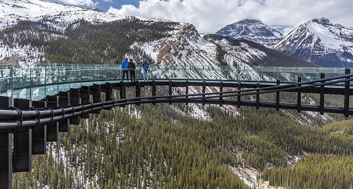 On the Glacier Skywalk, Jasper National Park