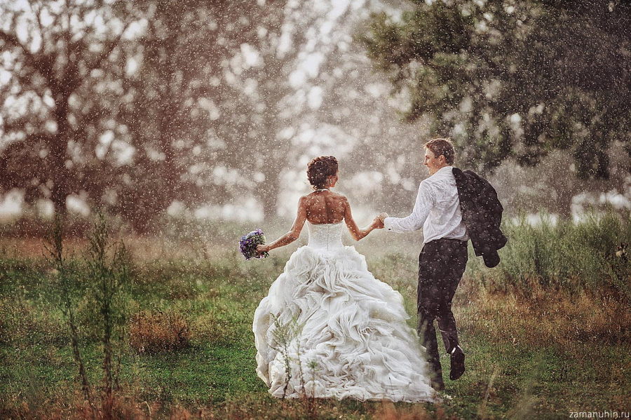 """Wedding in the rain"" by  Ivan Zamanuhin via 500px"