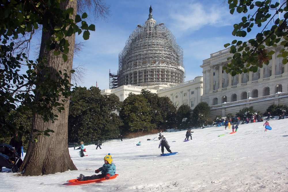 Sledding at the Capitol after Snowzilla, January 25, 2016.
