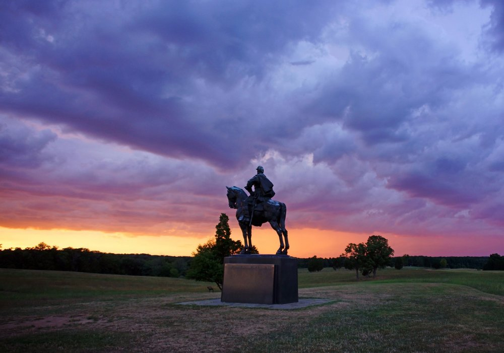 A stormy sunset at the Manassas National Battlefield Park, October 14, 2016. Photo credit: Kevin Ambrose