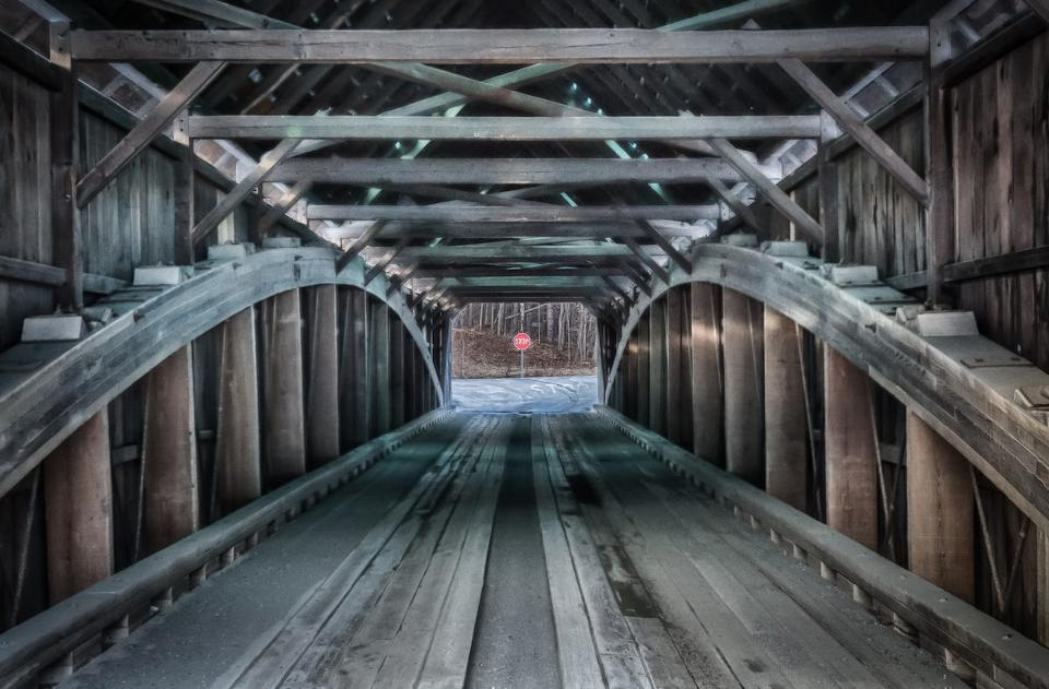 Covered bridge in Bennington, Vermont.Photo credit: iStock via Forbes