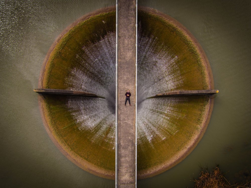 "Second place for professional beauty. ""Spillway Selfie"" taken by dixonltd."