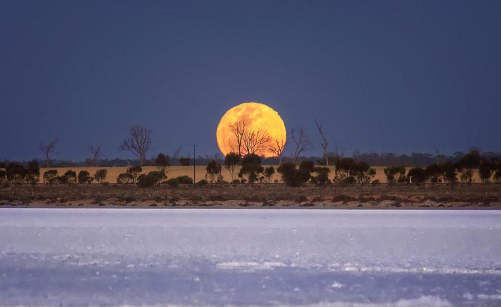 Full Moon over Lake Koorkoordine. Photo credit:Kylie Gee