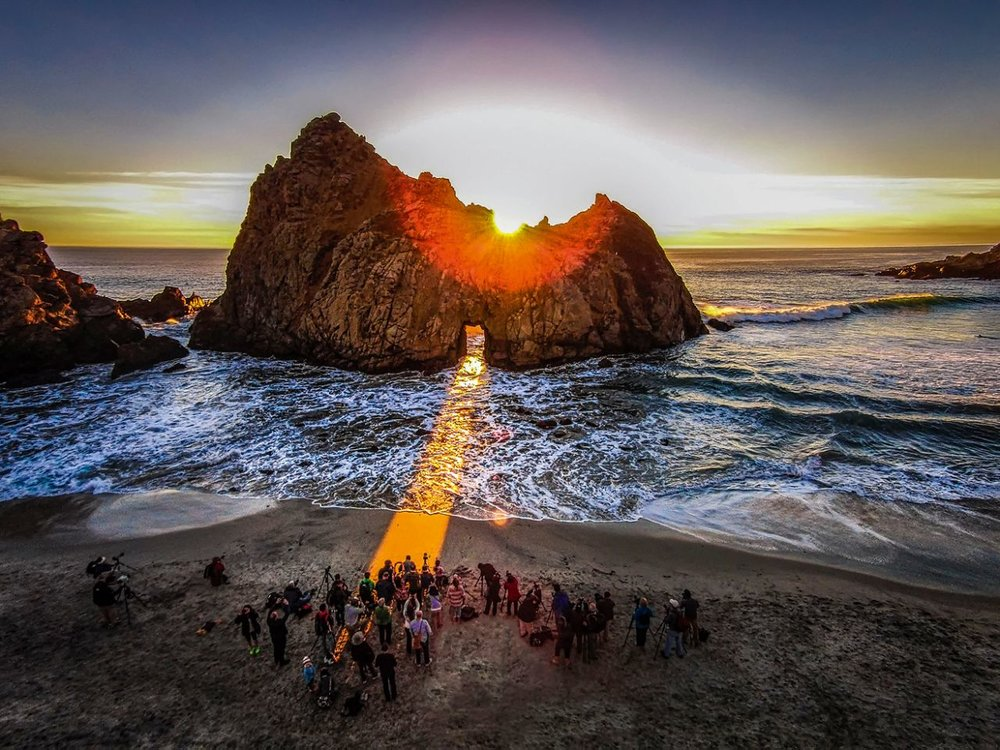 Pfeiffer Beach, Big Sur, California. Photo by Romeo Durscher, taken at 492 feet.