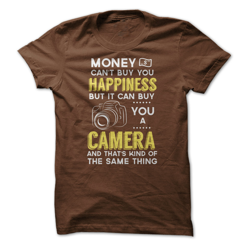 MENS Money cant buy you happiness - brown shirt.jpg
