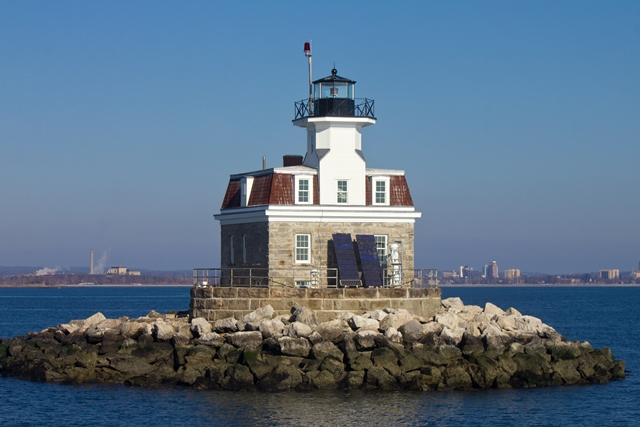 Pennfield Reef Lighthouse off Bridgeport, CT