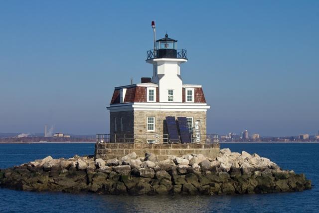 Pennfield Reef Lighthouse off Bridgeport, CT