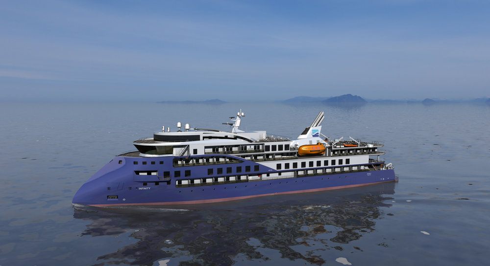 The new exploration cruise vessel being built for Sunstone is to be equipped with Wärtsilä engines and exhaust gas cleaning systems.