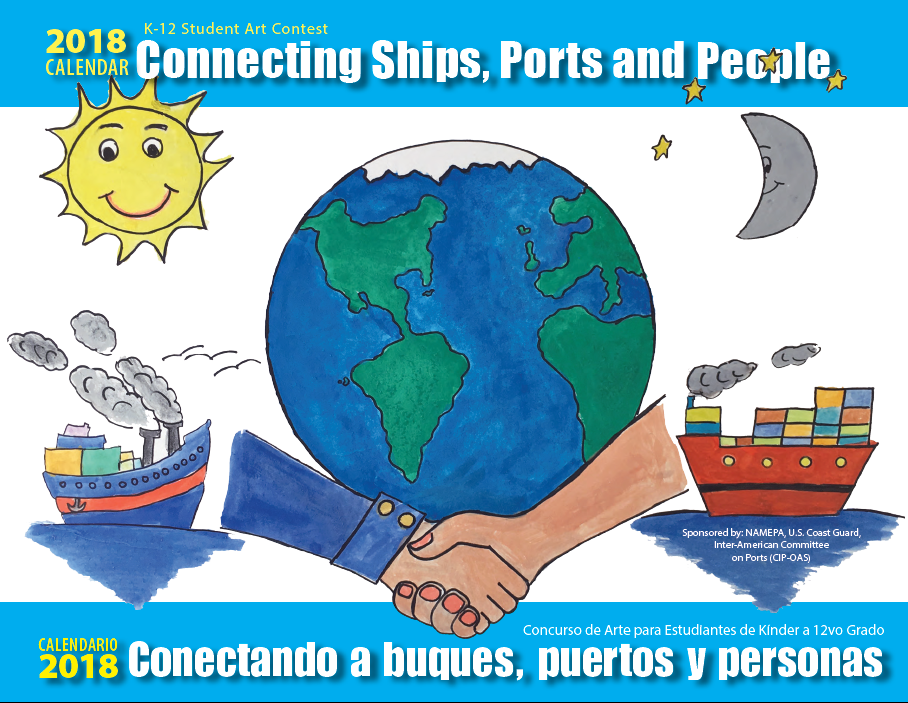 2018 Connecting Ships Ports and People Calendar Cover.png