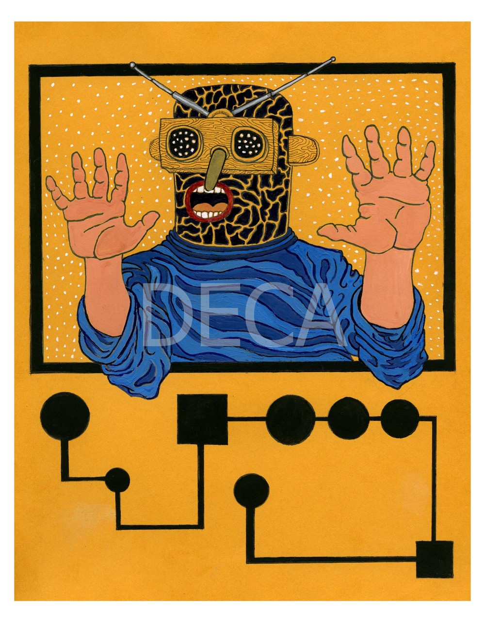 TV Repair Man by Jason Herr - SOLD