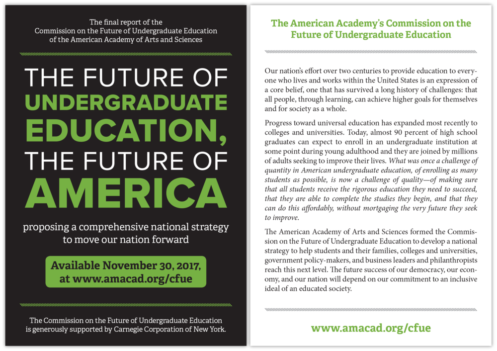 Postcard for The Future of Undergraduate Education