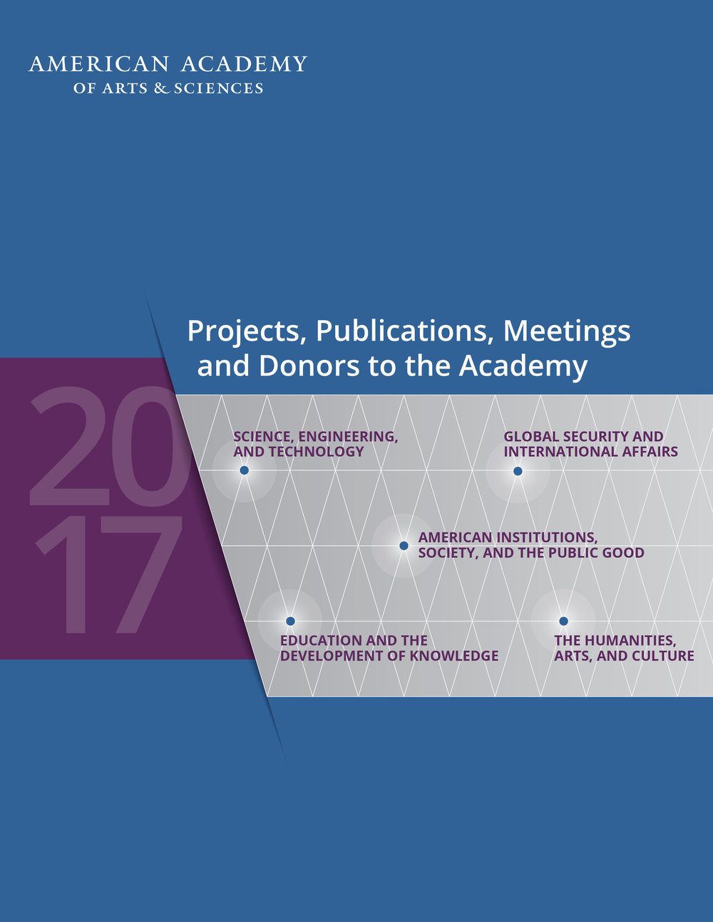 2017 Projects, Publications, Meetings and Donors to the Academy