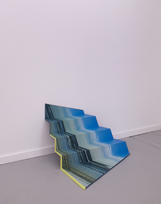 Folded Beach,  2014    wood, paint, laminate.                         36 x 38 x 40 inches
