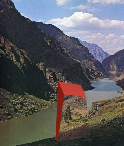 Otherscapes 4,  2013  collage, 12.5 x 11 inches