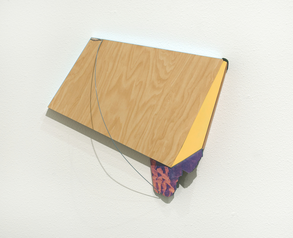 She had an elegance, but something seemed a tad fake,  2012  formica, wood, wire, paint, and cut paper. 19 x 22 x 6 inches