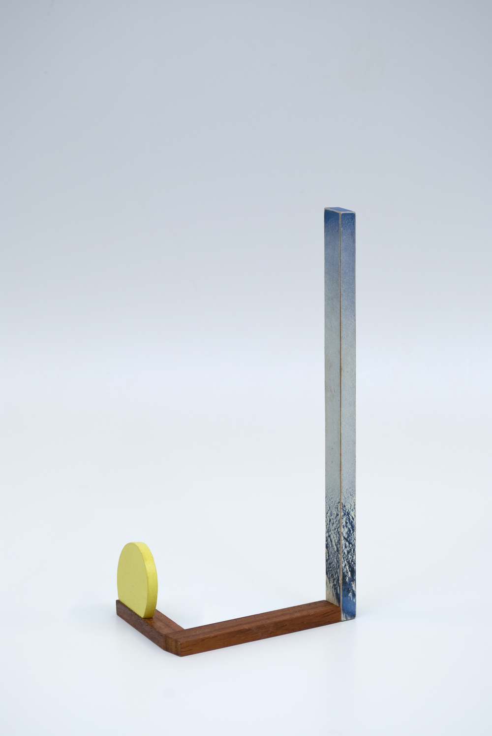 Maquette 7 , 2015  7.5 x 3.5 x 2 inches  Wood, paint, found image