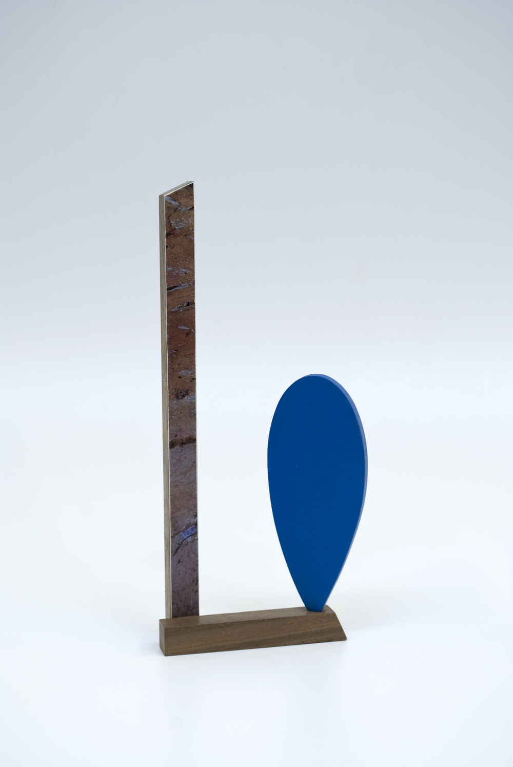 Maquette 9 , 2015  8 x 3 x 1 inches  Wood, paint, found image