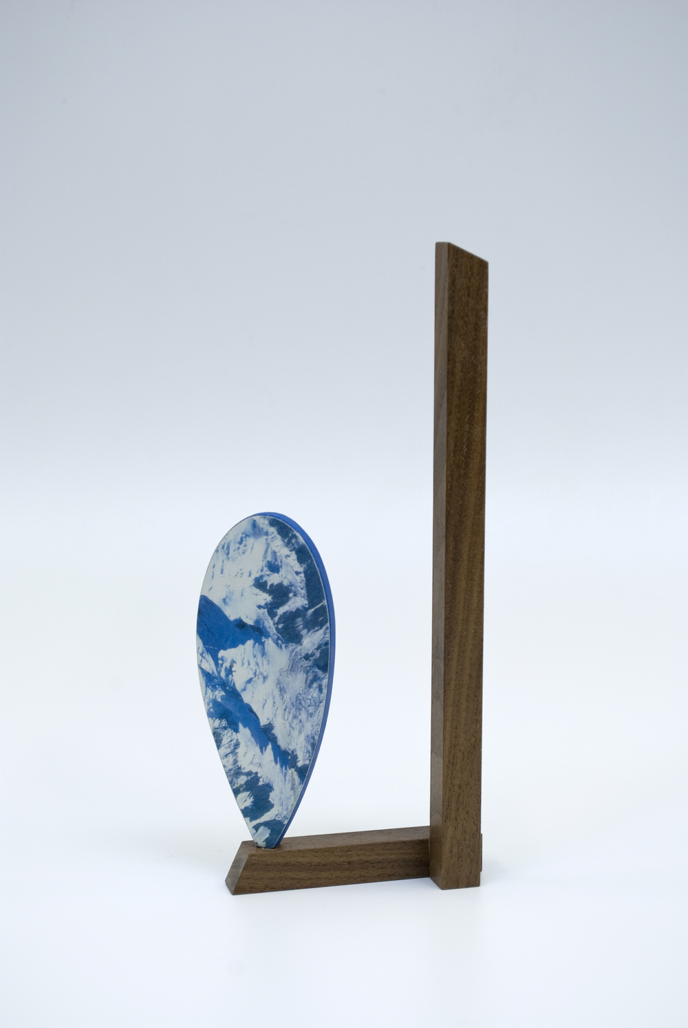 Maquette 9 (back),  2015  8 x 3 x 1 inches  Wood, paint, found image