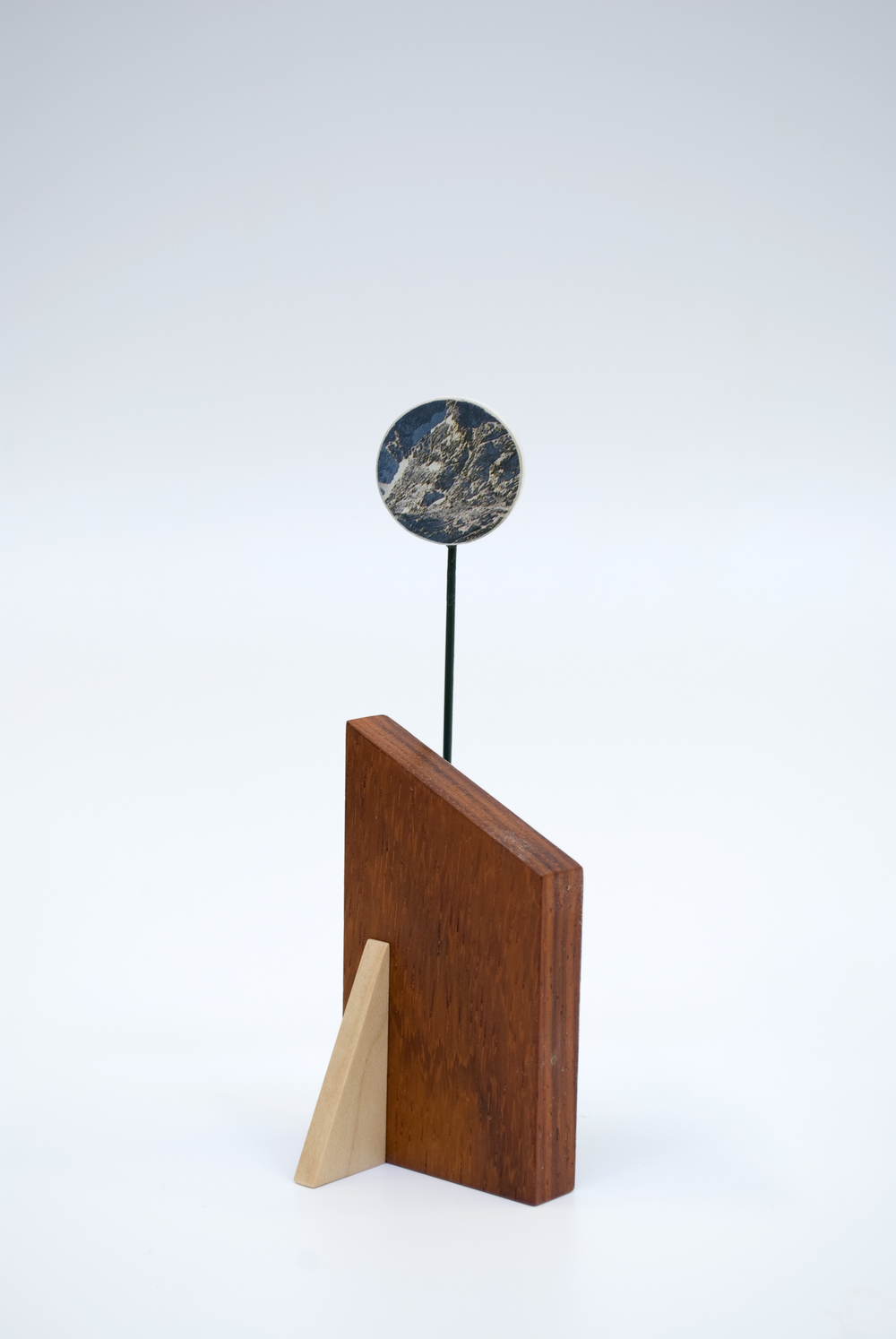 Maquette 12 , 2015  5 x 2 x 1.5 inches  Wood, paint, found image