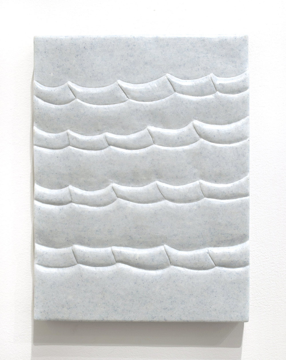 Sea Tablet (Galapagos),  2018  9 x 12 x 1.5 inches  Marble composite