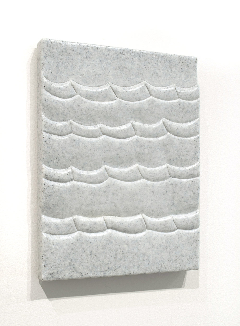 Sea Tablet (Capri),  2018  9 x 12 x 1.5 inches  Marble composite