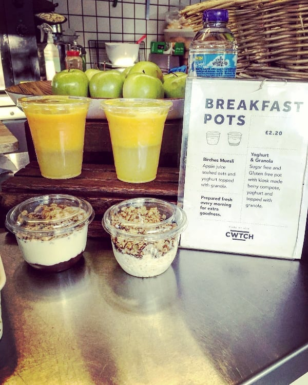 GOSH what a healthy and #tasty looking #breakfast !  Made entirely on site and fresh every day, with no added sugar. Just #delicious oaty, yogurty, fruity goodness.  How wholesome.