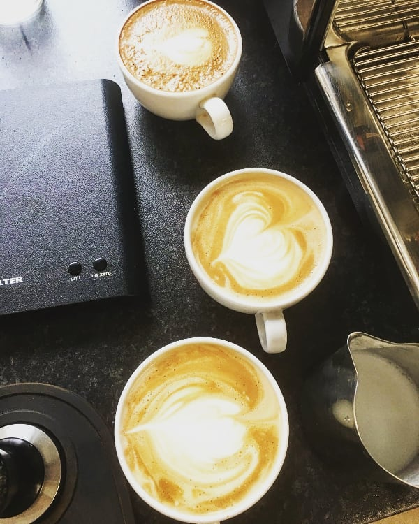 #trainingtuesday  The journey to #latteart. (You have no idea how much practise it takes. OH BOY).