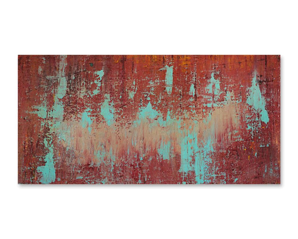 """Escalating""    24x12 -acrylic on wood board, high gloss finish"