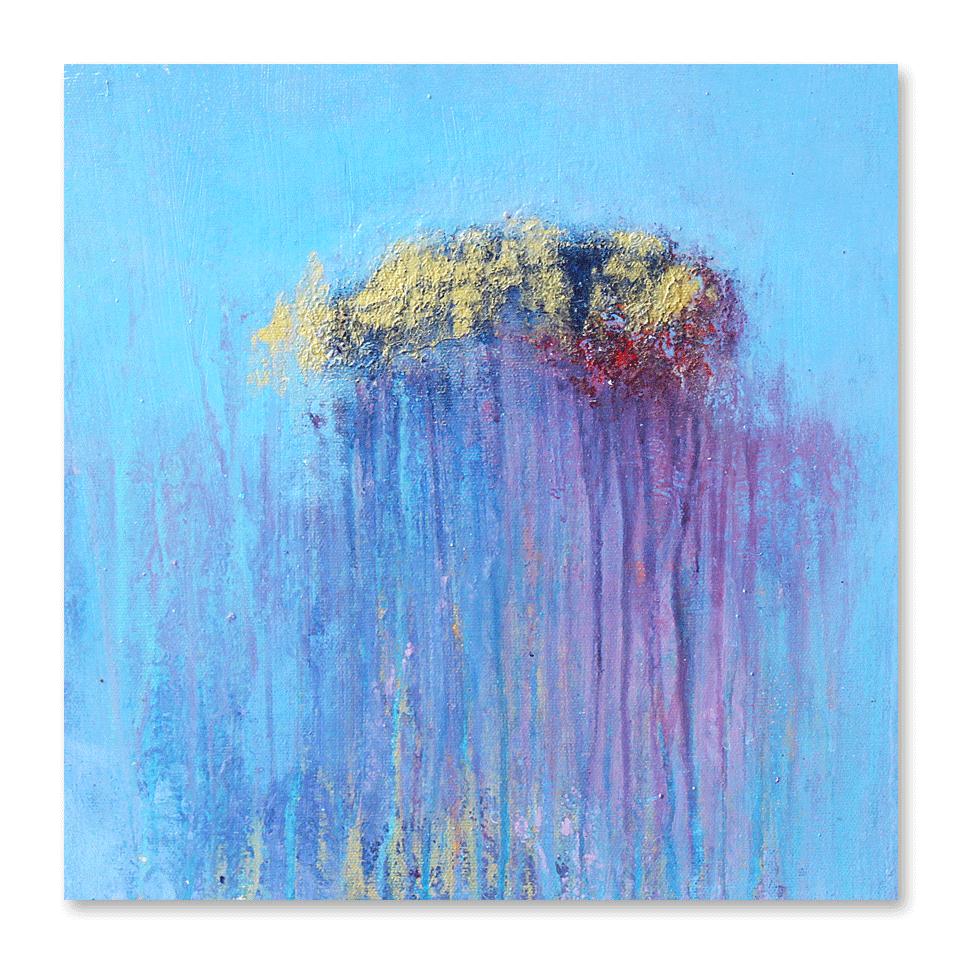"""""""Foggy Days #2""""    12x12 -acrylic on canvas, high gloss finish"""