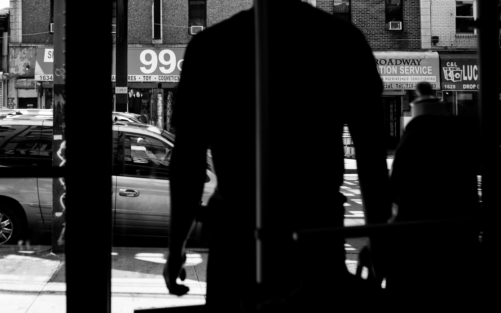 A Moe Sports mannequin stares out at the rapidly changing Broadway Avenue.