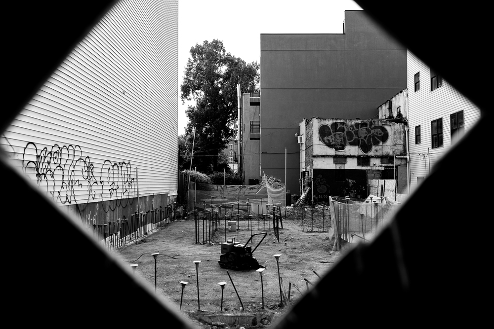 A peek into one of the many construction sites constantly popping up around Bushwick.