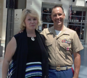 And again I was honored to join the Tragers and offered the Invocation at Lt Col Trager's retirement from the USMC!